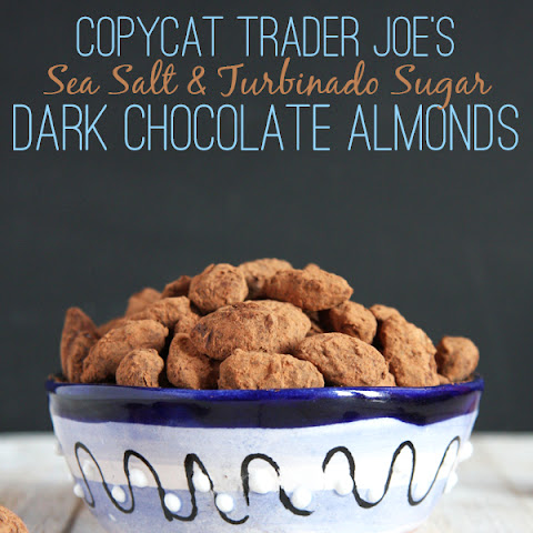 Copycat Trader Joe's Sea Salt & Turbinado Sugar Dark Chocolate Almonds