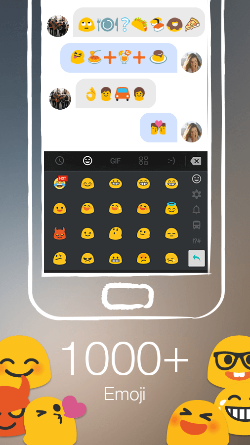 TouchPal Keyboard - Cute Emoji Screenshot 1
