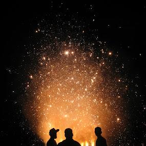 Dushera Celebration  by Shishir Desai - Abstract Fire & Fireworks ( pwcfireworks-dq, night, lights, silhouette, Lighting, moods, mood lighting, new, year, , #GARYFONGDRAMATICLIGHT, #WTFBOBDAVIS )
