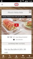 Screenshot of Dr. Oetker Rezeptideen