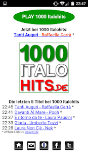 1000 Italohits Player Screenshot