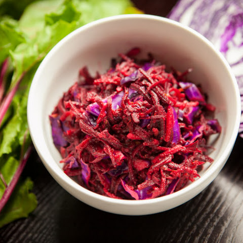 Fresh Raw Beet Salad - Fancy White Shirts, Take Cover!