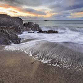 Sunrise by Jirka Vráblík - Landscapes Waterscapes ( co.cork, ireland, waves, beach, seascape, sunrise )