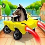 Pony Craft Unicorn Car Racing - Boy Girl Driving Icon