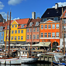 Nyhavn colours by Francis Xavier Camilleri - City,  Street & Park  Historic Districts