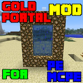 Mod Gold Portal for Minecraft PE icon