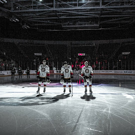Pregame by Gabe Willett - Sports & Fitness Ice hockey ( hockey, arena, players, sports, team, competition )