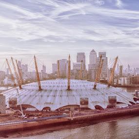 O2 Stadium London by Balazs Romsics - Buildings & Architecture Public & Historical ( stadium london canary wharf )