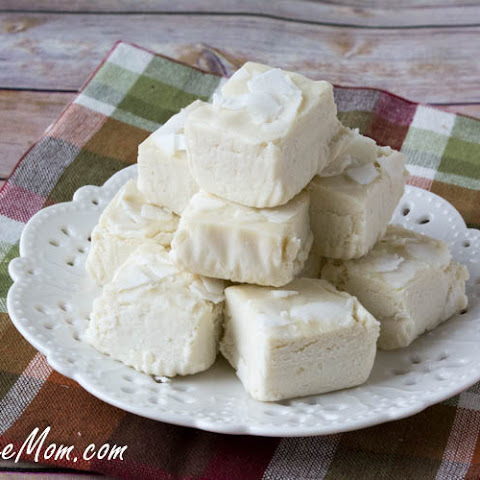 Low Carb White Chocolate Coconut Fudge