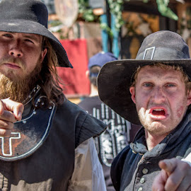 Puritans from the Southern California Ren Faire by Leah N - People Musicians & Entertainers