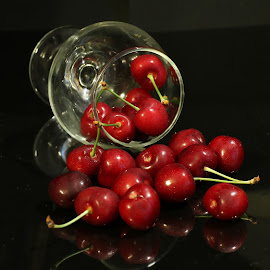 by Liviu Nanu - Food & Drink Fruits & Vegetables ( glass, cherries )