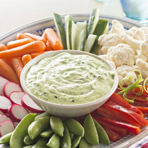Green Goddess Dip with Vegetables