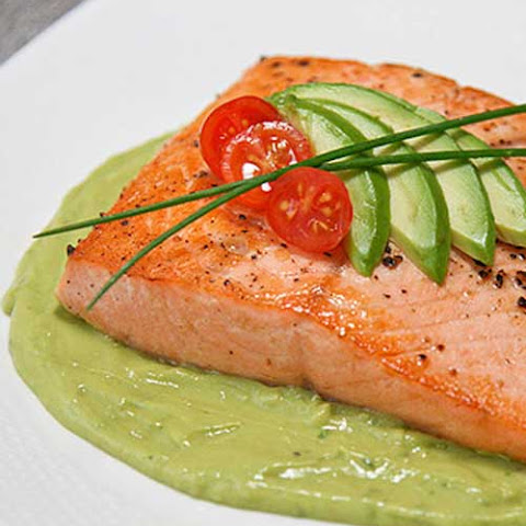 Pan Seared Salmon With Avocado Remoulade Recipes — Dishmaps