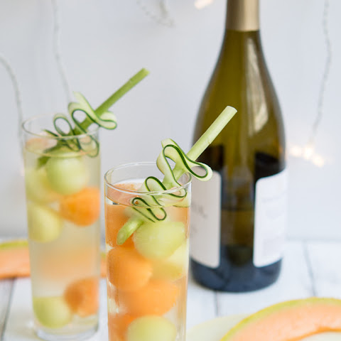 Cucumber Melon Ball Wine Cooler