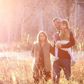 Fall Family Walk by Kathy Suttles - People Family