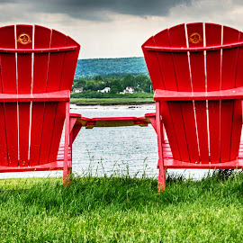 Holding Hands? by Richard Michael Lingo - Artistic Objects Furniture ( nova scotia, chairs, bay of fundy, annapolis royal, furniture )