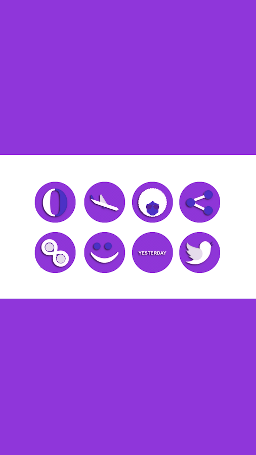 OJ Purple - Round Icon Pack Screenshot 2