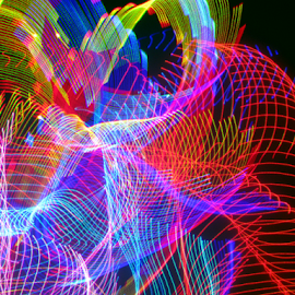 Old net remanents by Jim Barton - Abstract Patterns ( laser light, old net remnants, colorful, laser design, light designs, laser, laser light show, net, light, science )