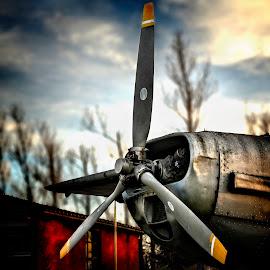 Oldtimer by Andrija Vrcan - City,  Street & Park  City Parks ( propeller, airplane, oldtimer )