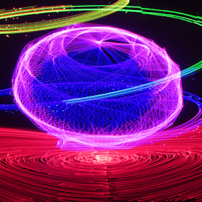 Mars flying saucer by Jim Barton - Abstract Patterns ( laser light, colorful, mars flying saucer, space, laser light show, science, mars, light design, flying saucer, laser design, laser, ufo, light )