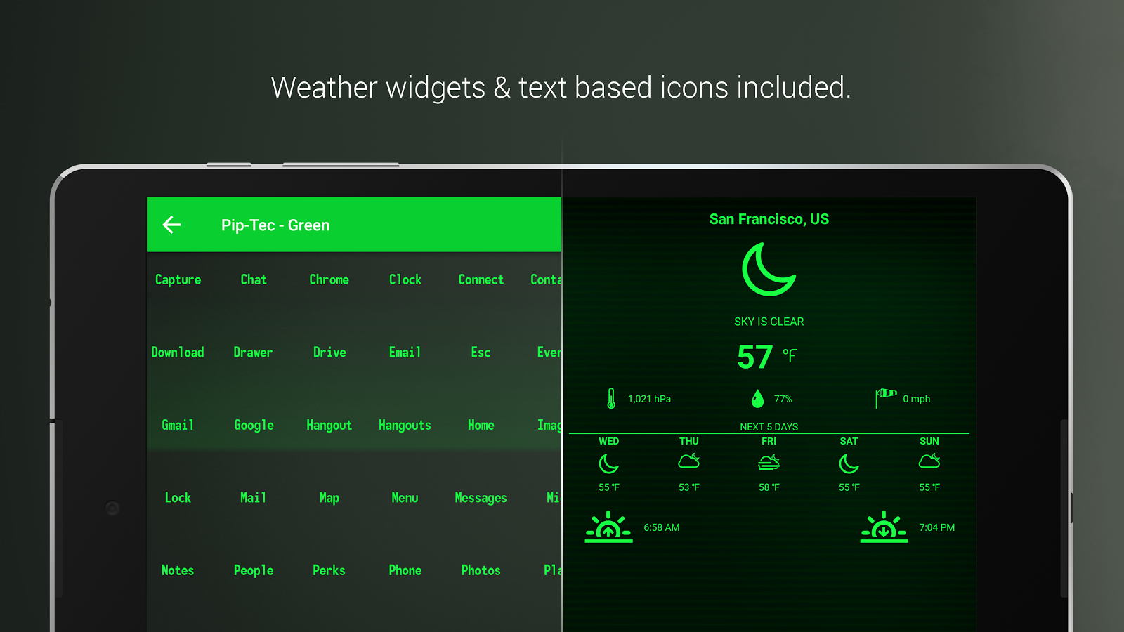 PipTec Green Icons & Live Wall Screenshot 14