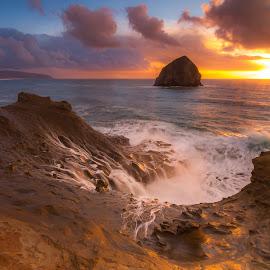 Cape Kiwanda by Christian Flores-Muñoz - Instagram & Mobile Instagram ( hystack rock, cape kiwanda, waterscape, sunset, pacific city, oregon coast, seascape )