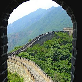 Great wall, China by Jaliya Rasaputra - Buildings & Architecture Public & Historical ( great wall china, china,  )