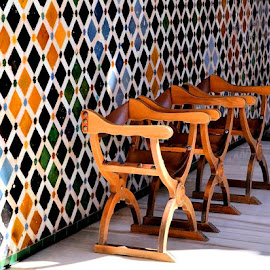 Chairs in the Alhambra by Heather Aplin - Artistic Objects Furniture (  )