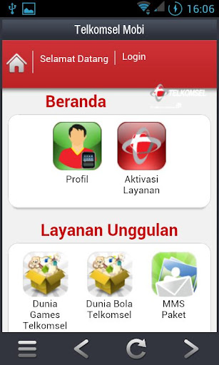 Telkomsel Mobi screenshot 1