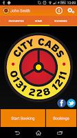 Screenshot of City Cabs Edinburgh