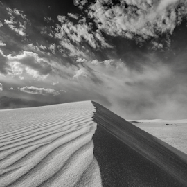 Sand Storm by Michael Keel - Landscapes Deserts ( dunes, desert, white sands national monument, new mexico )