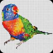 Pet Sandbox Color By Number Drawing Pixel Art 2018 Icon