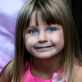 Smiles by Luanne Bullard Everden - Babies & Children Child Portraits ( girls, blue eyes, grandchildren, children, smiles )
