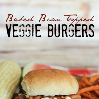 Baked Bean-Topped Veggie Burgers