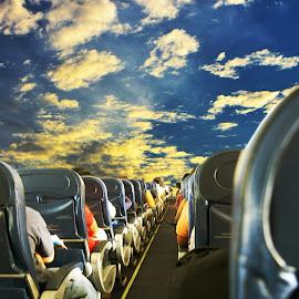 Penumpang dalam pesawat,,,, by Encik Muchlis - Digital Art Things