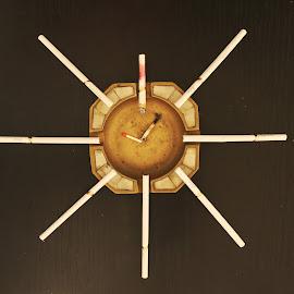 no more time to smoke by Liviu Nanu - Abstract Patterns ( cigarettes, ashtray, matches )