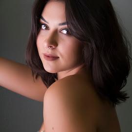 Sam by Barry Blaisdell - People Portraits of Women ( beautiful, woman, piercing, brunette, model, girl, portrait )