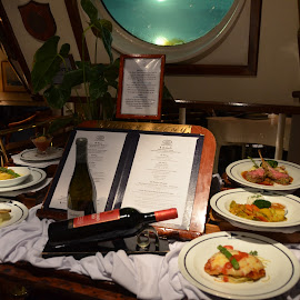 Dinner Aboard the Star Clipper by Bill Frank - Food & Drink Plated Food ( sailing, tall ships, cruise ships, travel, sailboat, travel photography )