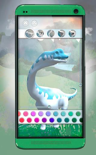Dinosaurs 3D Coloring Book screenshot 2