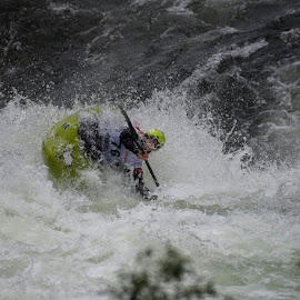 Whitewater II by Olav Aga - Sports & Fitness Watersports ( water, extreme sports, extremsportveko 2016, elvekajakk, voss, strandaelve, kayak, whitewater, river, norway )