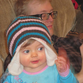 granddaughter by Victoria Shaudys - People Family ( child, candid, hat,  )