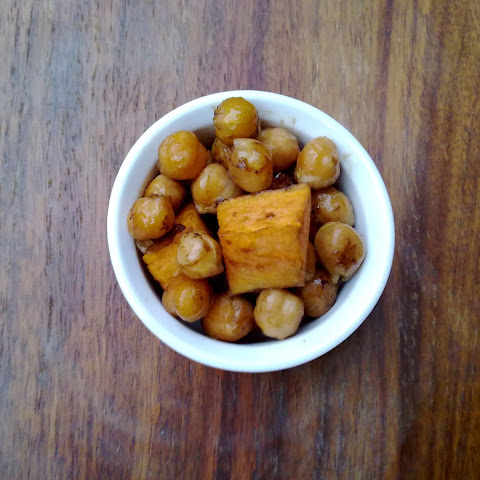 Balsamic Vinegar and Sea Salt Chickpea and Sweet Potato Salad