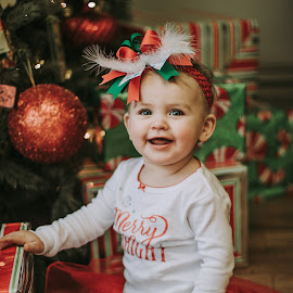Merry & Bright by Kelly Lemaster - Babies & Children Toddlers ( merry and bright, merry, bright, christmas, cute, december, red, tutu, tree, ornament, christmas tree, bow, merry christmas )