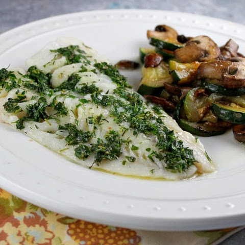 Herb-Topped Fish Baked in Parchment
