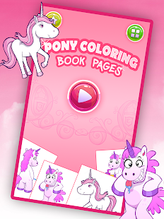 Game Pony Coloring Book Pages apk for kindle fire