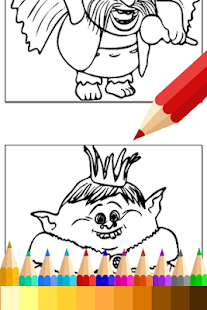 Coloring Pages for Trolls Fans- screenshot thumbnail