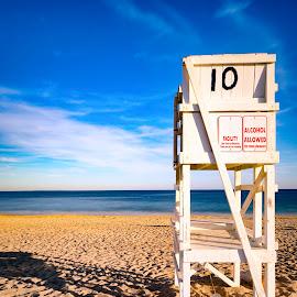 Tall Chair by Robert Petrocelli - Landscapes Beaches ( lifeguard, beach )