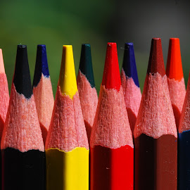 colors by Adjie Tjokrosoedarmo - Artistic Objects Still Life ( colors, drawing, pencils )