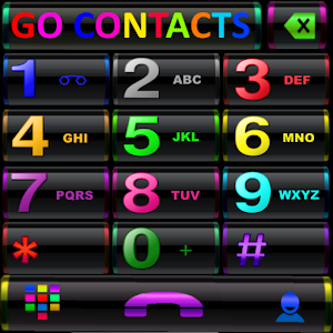 THEME GO CONTACTS BLACK COLORS