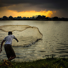 Fishing 2 by Tuhin Biswas - People Professional People